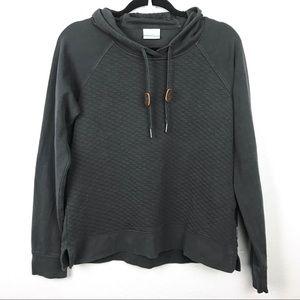 Columbia Quilted Pullover Hoodie Sweatshirt Sz M